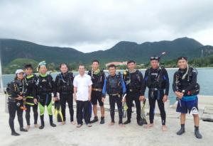 Bế giảng lớp đào tạo lặn biển năm 2017