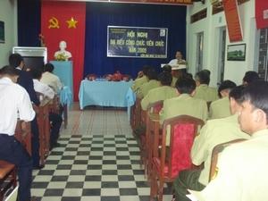 HỘI NGHỊ ĐẠI BIỂU CCVC VƯỜN QUỐC GIA CÔN ĐẢO NĂM 2009