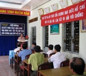 Sơ kết một năm thực hiện cuộc vận động học tập và làm theo tấm gương đạo đức Hồ Chí Minh